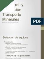 3. Control y proyección transporte