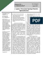 2015 08 Diuretic Agents- Potassium-Sparing Diuretics - Spironolactone