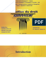 Evolution du droit commercial