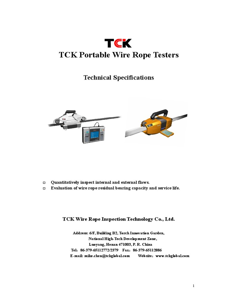 TCK Portable Brochure | Software Testing | Wire