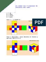 Fórmulas Para El Cubo Rubik - Esquinas