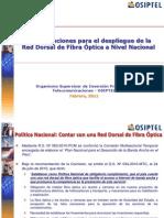 Despliegue de Red Dorsal Fibra Optica