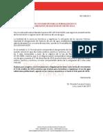 Plazo de Vencimiento Formalización o Regularización de Licencia de Uso de Aguas