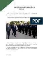 11.10.2013 Comunicado Reconstruir El Tejido Social Es Prioridad de Esteban