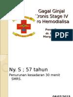 Sindroma Uremia Pada Gagal Ginjal Kronis Stage IV