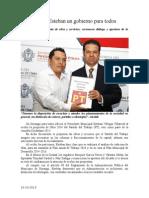 16.10.2013 Comunicado Ofrece Esteban Un Gobierno Para Todos