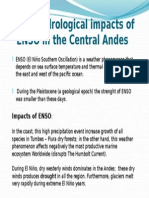 Main Hydrological Impacts of ENSO in the Central Andes
