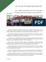 17.10.2013 Comunicado Apoya Esteban a Más de 500 Mujeres Del Medio Rural