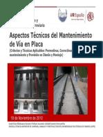Aspectos Tecnicos Mantenimiento Vía en Placa_DVR