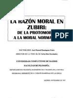 La Razon Moral en Zubiri