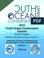 2015 Youth Ocean Conservation Summit Program