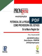 Presentacion Prompyme Puno 2003