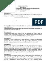 Fisica i (12 Cfu) a.a. 2008-09 Esercizi