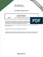 0625_s14_ms_31Documentation of physics
