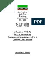 RV-2AJ CIM Set Up Notes November 2006