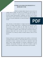 Relación Entre Aparatos Digestivo y Reproductor