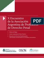 X Encuentro de Profesores de Derecho Penal