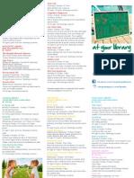 October School Holiday Brochure 2015