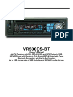 VRC500 Car Radio Manual