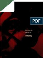 Antoine de Baecque CINEFILIA Capa Fotos Índices Intro