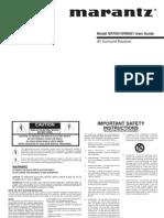 Marantz SR8001 AV Surround Receiver Amplifier User Manual