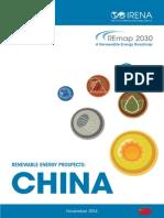 IRENA REmap China Report 2014