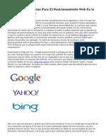 Algunas Herramientas Para El Posicionamiento Web En la capital de España