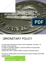 monetary policy and role of its instruments