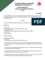 ACTA N° 019-15 Revision Cronograma Diocesano