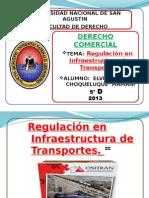 Regulacion en Infraectructura de Transporte