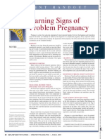 Warning Signs of Problem Pregnancy