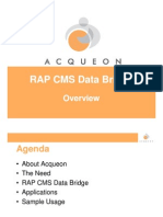 Acqueon - RAP CMS Data Bridge - Presentation