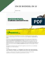 Fabricación de Biodiesel en 10 Pasos