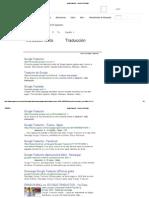 Googletraductor - Buscar Con Google