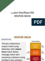 Materi RIK Imunologi Klarifikasi DES2014