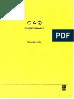CAQ cuestionario cuadernillo