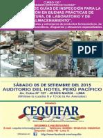 17-08-15 Progr5 Curso 130 Desarrollo d Guias Inspecc BPM-BPL-BPA en Lab-Drog-Alm Espec