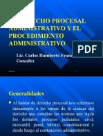 El Derecho Procesal Administrativo y El Procedimiento Administrativo