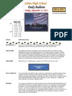 SHS Daily Bulletin 9-11-15