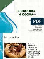 Ecuadorian cocoa- Exports analysis (2000-20015)
