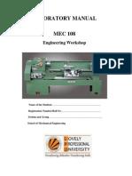 Lab manual of 1st year mechanical workshop