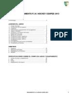 Reglamento Fih Hockey Sobre Cesped