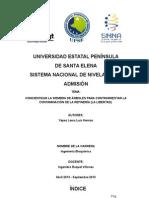 Organización y Apredizaje (proyecto preuniversitario) Con la ayuda respectiva el documento es un modelo.