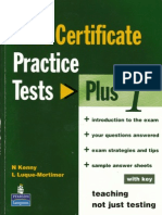 First Certificate Practice Tests Plus1 Book