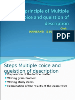 The Formulation of Multiple Coice and Queistion Of
