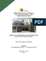 Informe Anual Del Año de Salud Rural Dr. Yagual