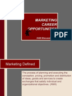 Marketing Career Opportunities