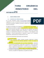 Estructura Orgànica Del Ministerio Del Ambiente