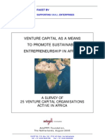 Venture Capital in Africa FACET 2005