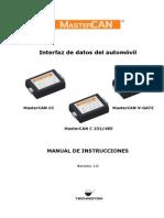 MasterCAN Manual de Instrucciones